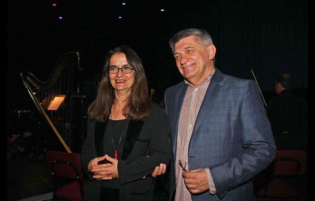Alexader Sokurov with Greek composer Eleni Karaindrou